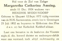 Amsing Margaretha Catharina