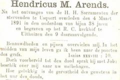 Arends Hendricus M.